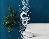 Wall Decals Scribble Circles Pattern - Vinyl Stickers Art