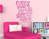 Wall Decals Text Good and Perfect Gift Kids Wall Quotes