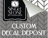 Custom Wall Decal Deposit for Chloe