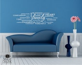 Family Wordle Wall Decals- Vinyl Wall Stickers Art Words Quote