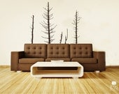 Pine Trees Wall Decals Winter - Vinyl Wall Decal Art
