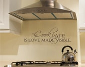 Cooking is Love Made Visible Wall Decal Quote - Vinyl Wall Stickers Word Art
