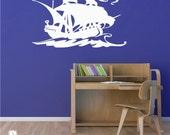 Pirate Ship Decal - Vinyl Sticker Wall Art