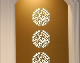 Mums Wall Decal Ornamental - Vinyl Wall Stickers Art Graphics