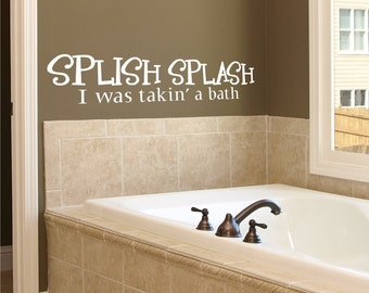 Wall Decal Splish Splash Bath - Vinyl Wall Sticker Art