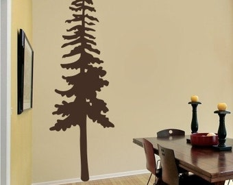 Pine Tree Wall Decal - Vinyl Wall Stickers Art