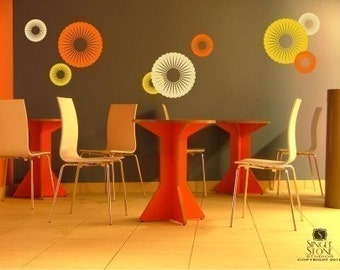 Wall Decals Funky Circles - Vinyl Stickers Art Graphics