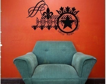 Wall Decals Steampunk Taking Risks, Taking Flight Collage - Vinyl Text Wall Words Stickers Art