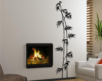 Tall Bamboo Wall Decal - Vinyl Wall Stickers Art