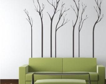 Tree Wall Decals - A Walk in the Woods - Vinyl Wall Stickers Art