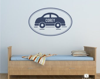 Car With Name Personalized - Vinyl Stickers Art Graphics Words Lettering