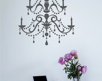 Chandelier Wall Decal Modern - Vinyl Wall Stickers Art