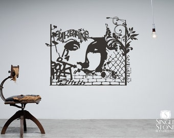 Urban Graffiti Wall Decal - Wall Pattern Vinyl Text Wall Words Stickers Art Graphics