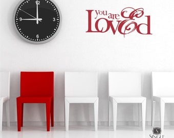 You Are Loved Wall Decal Quote - Nursery Sticker