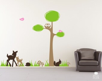 Tree Wall Decal Woodland Nursery - Wall Stickers
