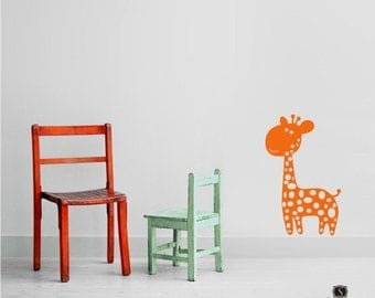 Baby Giraffe Wall Decal - Vinyl Wall Stickers Art