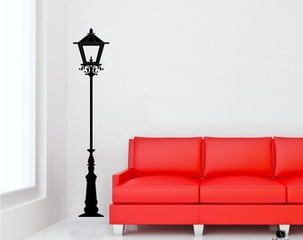 Street Lamp Wall Decal Light Lantern - Vinyl Wall Stickers Art Graphics