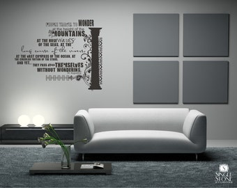 Wall Decal Quote Wonder (smaller size) -  Vinyl Text Wall Words Stickers Art Graphics