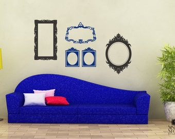 Frames Wall Decal Baroque Collection (Small Set) - Vinyl Wall Stickers Art Graphics