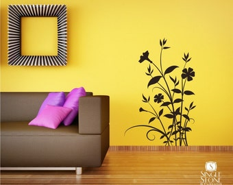 Floral Wall Decal Nature's Bouquet - Vinyl Text Wall Words Stickers Art