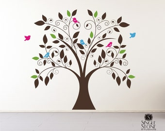 Tree Wall Decal Whimsical - Nursery Vinyl Wall Stickers Art