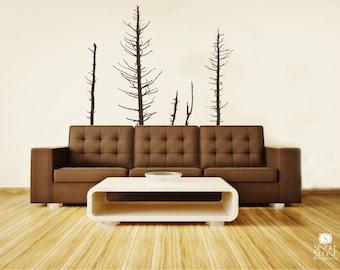 Pine Trees Wall Decals Winter - Vinyl Wall Decal Art