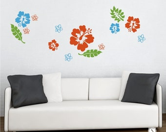 Hibiscus Wall Decal Kit Flowers