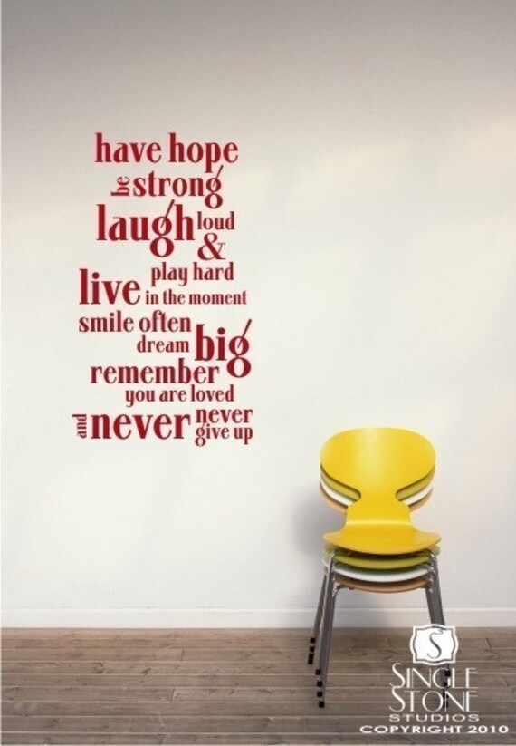 Have Hope - Vinyl Wall Decals Stickers Art Graphics Words Lettering