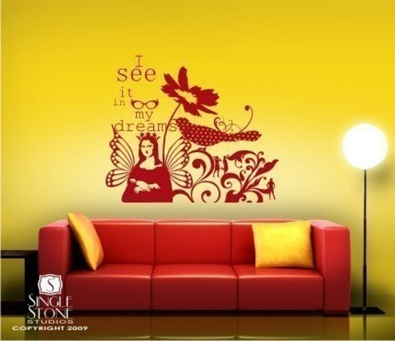 Wall Decals In My Dreams - Vinyl Text Wall Words Stickers Art Graphics