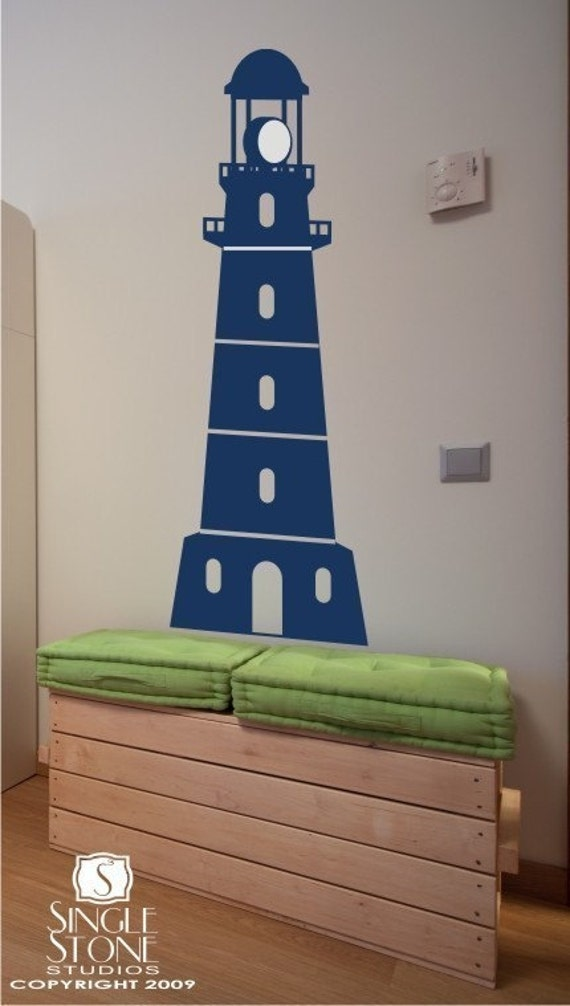lighthouse wall decal by singlestonestudios on etsy lighthouse birds sea custom vinyl wall decals sticker