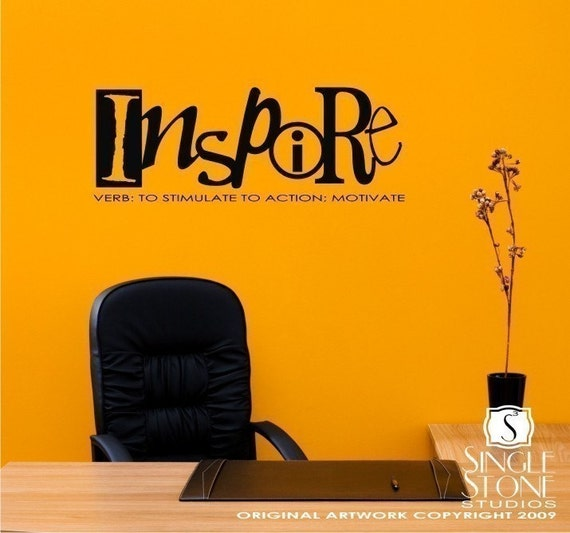Wall decals quote inspire definition vinyl text stickers art Stickers definition