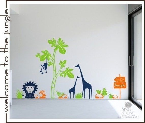 Jungle Nursery Wall Decals - Vinyl Wall Stickers Art