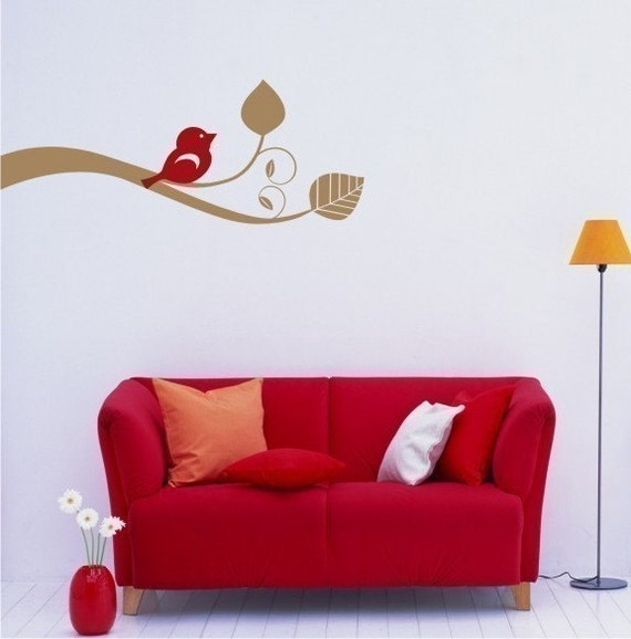Wall Decals Bird Out On A Limb - Vinyl Wall Decals Stickers Art Graphics