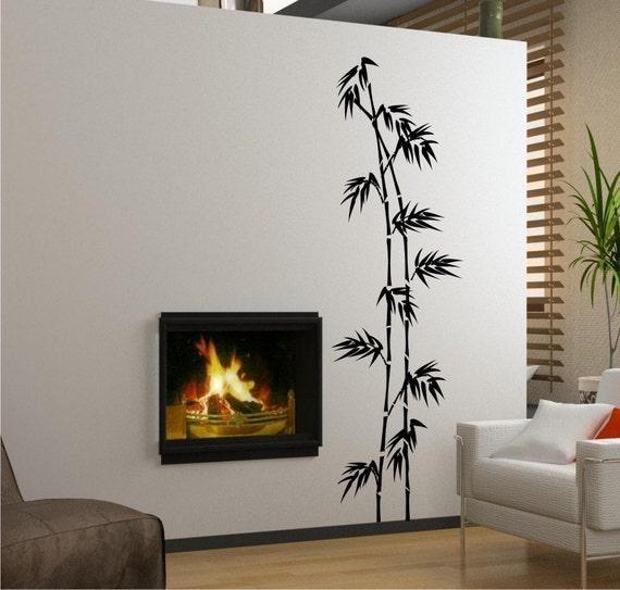 Tall Bamboo Wall Decal - Vinyl Wall Stickers Art