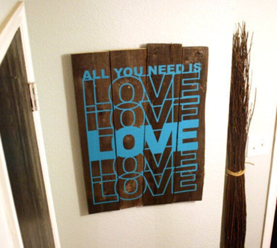 Wall Decal Quote All You Need Is Love - Vinyl Text Wall Words Stickers Art Graphics