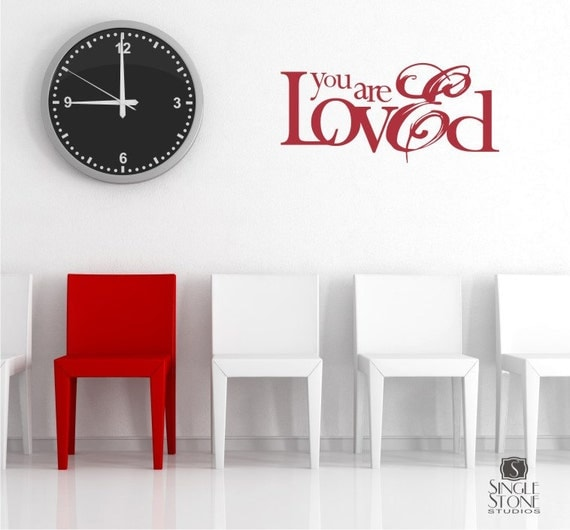 Quote Wall Stickers For Nursery : You are loved wall decal quote nursery sticker