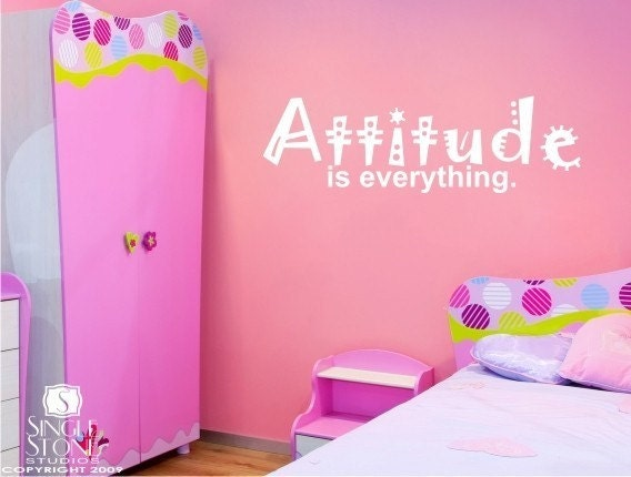 Wall Decal Quote Attitude Is Everything Vinyl Wall Words