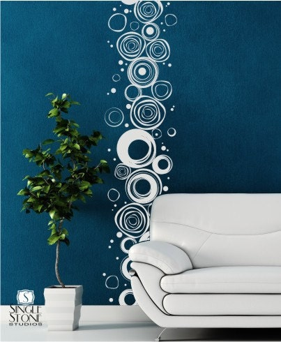 Wall Decals Scribble Circles Pattern Vinyl Stickers Art