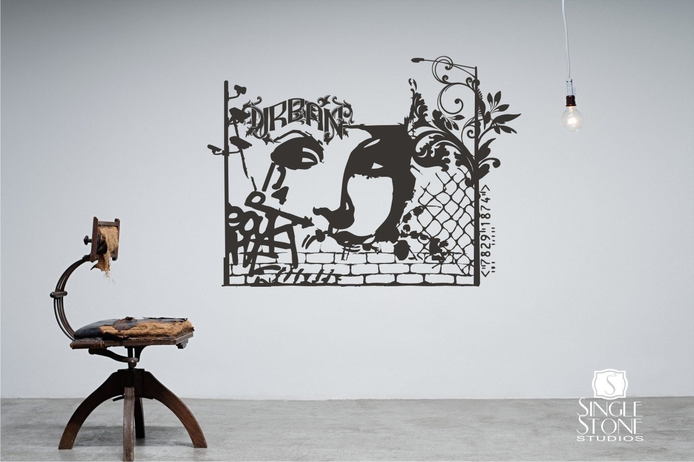Urban graffiti wall decal wall pattern vinyl text wall words zoom amipublicfo Gallery