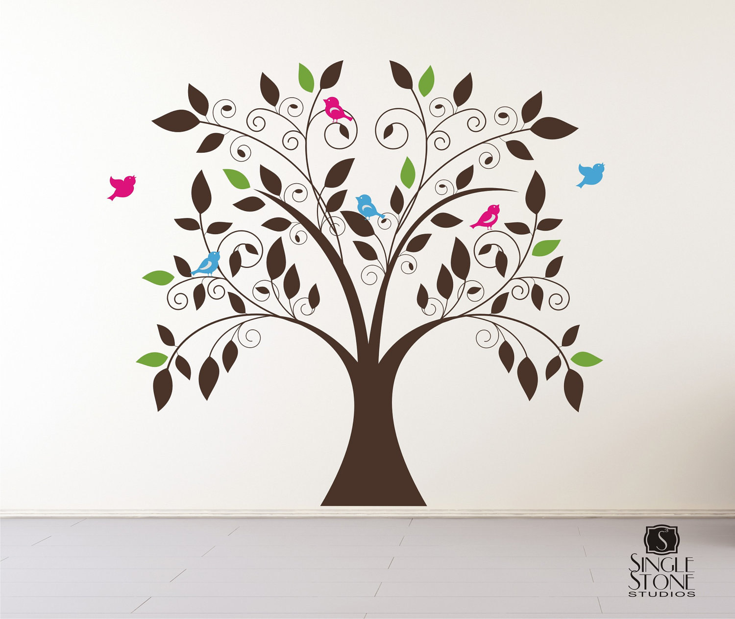 Tree Wall Decal Whimsical Nursery Vinyl Wall Stickers Art