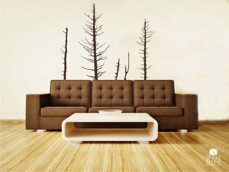 Pine Trees Wall Decals Winter Vinyl Wall Decal Art Custom
