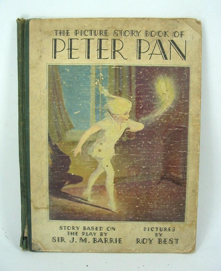Vintage Children S Book Cover Art ~ Vintage children story book cover peter pan