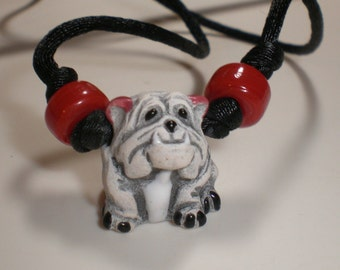 Bulldog Jewelry, College Mascot Gifts, Bulldog Gift, Bulldog Necklace, Rear View Mirror Charm