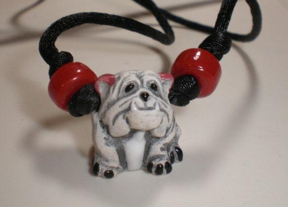 Bulldog Jewelry, College Mascot Gifts, Bulldog Gift, Bulldog Necklace, Rear View Mirror Charm