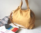 Back To School Sale  - Mia in Mustard // shoulder bag / messenger bag / diaper bag / School bag / laptop / tote / women / For Her