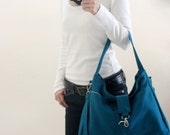 HAPPY NEW YEAR Sale  - 25% off  // Ashley in Teal // Messenger / Diaper bag / Tote bag / Purse / Handbag /Women /Gift for her