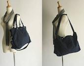 New Year Sale  30% -  Mia in Navy Blue messenger bag,diaper bag,Shoulder bag,laptop bag,tote,women,Gift For Her