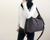 HAPPY NEW YEAR Sale  - 25% off  // Ashley in Gray // Messenger / Diaper bag / Tote bag / Purse / Handbag / Women / For her