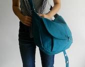 HAPPY NEW YEAR Sale  - 25% off  // Kylie in Teal // Messenger / Shoulder bag / Tote bag / Purse / Handbag / Women / For her