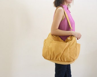 Sale Sale Sale 30% -Anna in Yellow Mustard messenger bag/diaper bag/School bag / cross body / Purse / tote bag / women / Gift for her